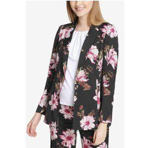 Calvin Klein One-Button Floral-Print Blazer Jacket